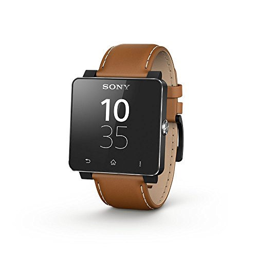 Sony Smartwatch 2 Braccialetto di Cuoio, Marrone