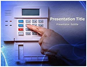 Alarm Powerpoint Template Fire Background Software