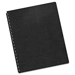 Executive Presentation Binding System Covers, 11-1/4 x 8-3/4, Black, 200/Pack, Sold as 200 Each