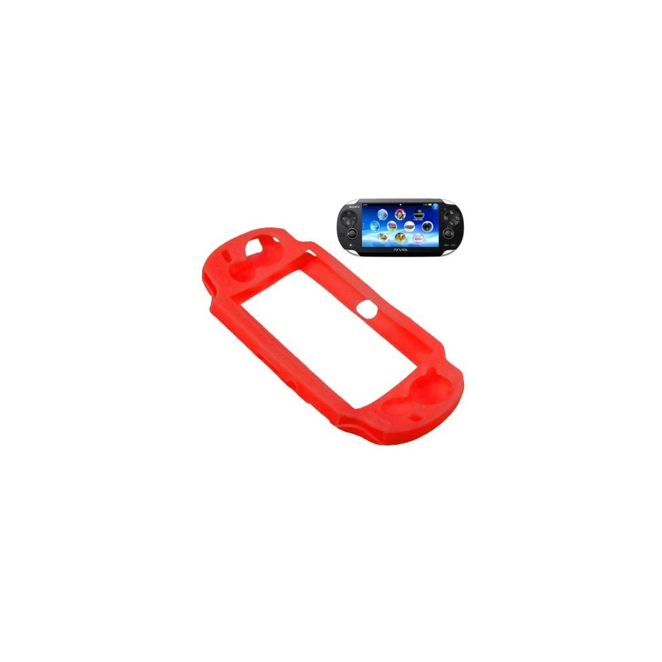 BW Silicone Sleeve Gel Cover Skin Case for Sony Playstation PS Vita  Red