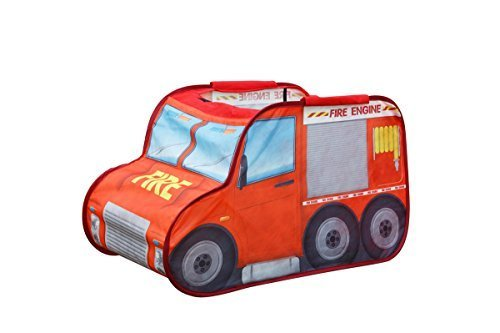 Alvantor Fire engine cars mini driver play tent for kids,children game play house for toy& gift & Christmas - 1