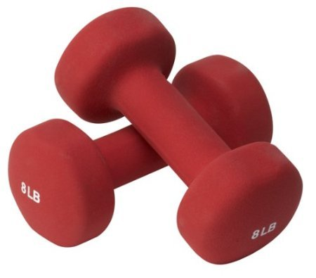 Valeo HW8 8-Pound Neoprene Hand Weights