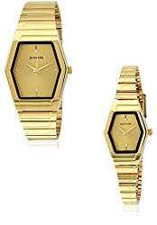 Sonata Pairs Analog Gold Dial Couples Watch - NF70838074YM02