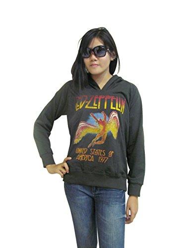 Bunny Brand Women'S Led Zeppelin U.S Tour 1977 Hoodie Women'S T-Shirt (Medium)