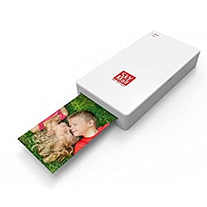 SkyMall Mobile Wi-Fi & NFC Photo Printer with Dye Sublimation Printing Technology & Photo Preservation Overcoat Layer (White)