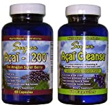 Max Strength Acai Berry & Acai Cleanse Combo - Diet Weight Loss & Colon Cleanse Great Value