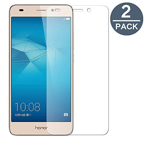 Cristal templado Huawei Honor 5C, [2-Pack] y-ouni película protección-sin burbujas de aire-Ultra resistente, dureza 9H protección tierra templado Huawei Honor 5C