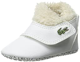 Lacoste Baby B Snug RBR Slip On (Infant/Toddler), White/White, 4 M US Toddler