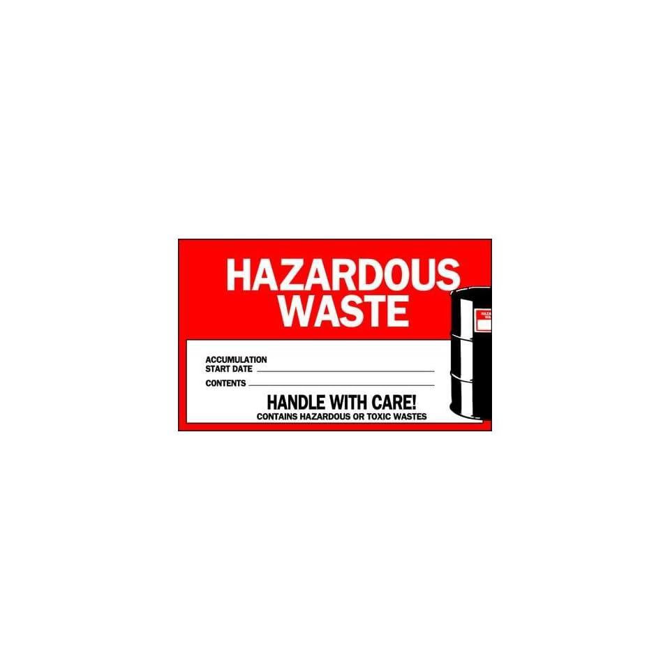 BRADY 121064 Label,Waste,Pk50,4x6,Hazardous Waste