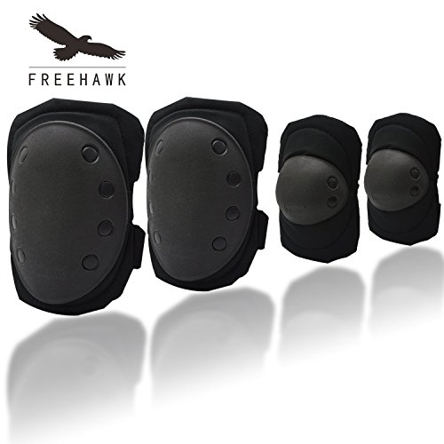 Best Prices! Knee Elbow Protective Pads,Freehawk Outdoor Hunting Cycling Roller Skating Knee Pads El...