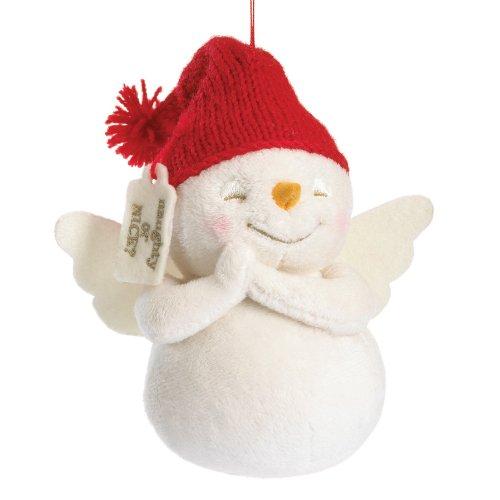 Boyds Plush Ho Snowpinion Plush Snowman Ornament