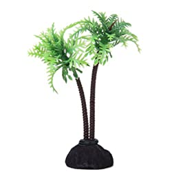 Imported 10cm Coconut Tree Plastic Aquarium Plants Ornament for Fish Tank