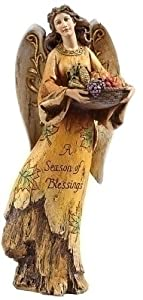 "11"" Joseph's Studio Harvest Collection Fall ""Season of Blessings"" Angel Figure"