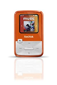 SanDisk Sansa Clip Zip 4GB MP3 Player (Orange)