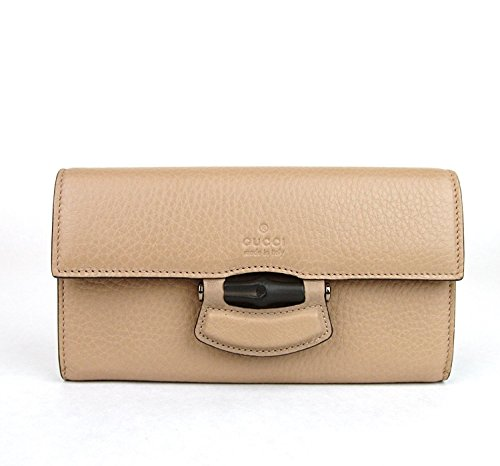 Gucci Bamboo Beige Leather Nouveau Clutch Wallet 347278 2754