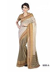 Sonal Saree Silk Cotton Saree (8505-A _off White)