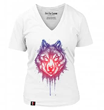 55 clothing women 39 s inner wolf t shirt deep v for Amazon review wolf shirt