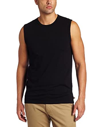 Dockers Men's Performance Muscle Crew T-Shirt, Black, Large