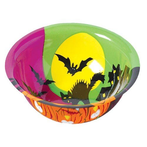 Halloween Bowls - Party Supplies (12 Pack) 6 3/4 In. Diam. X 2 In. T. Plastic. - 1