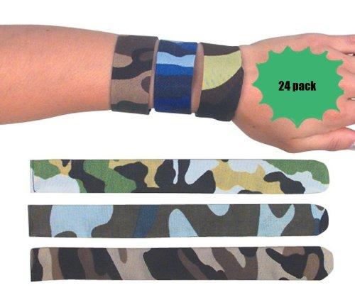 24 Camouflage Slap Bracelets - Camo Bracelets - 2 Dozen Per Order front-86412