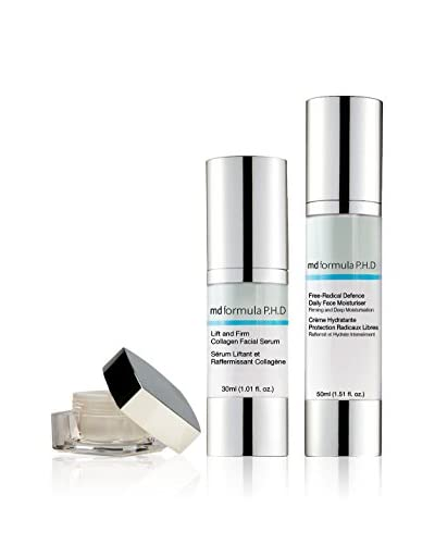 MD FORMULA Beauty-Tratamiento Facial 2 Piezas Eye Serum regenerating Night, Collagen-Lifting Serum, Free-Radical Defence Daily Face Moisturizer