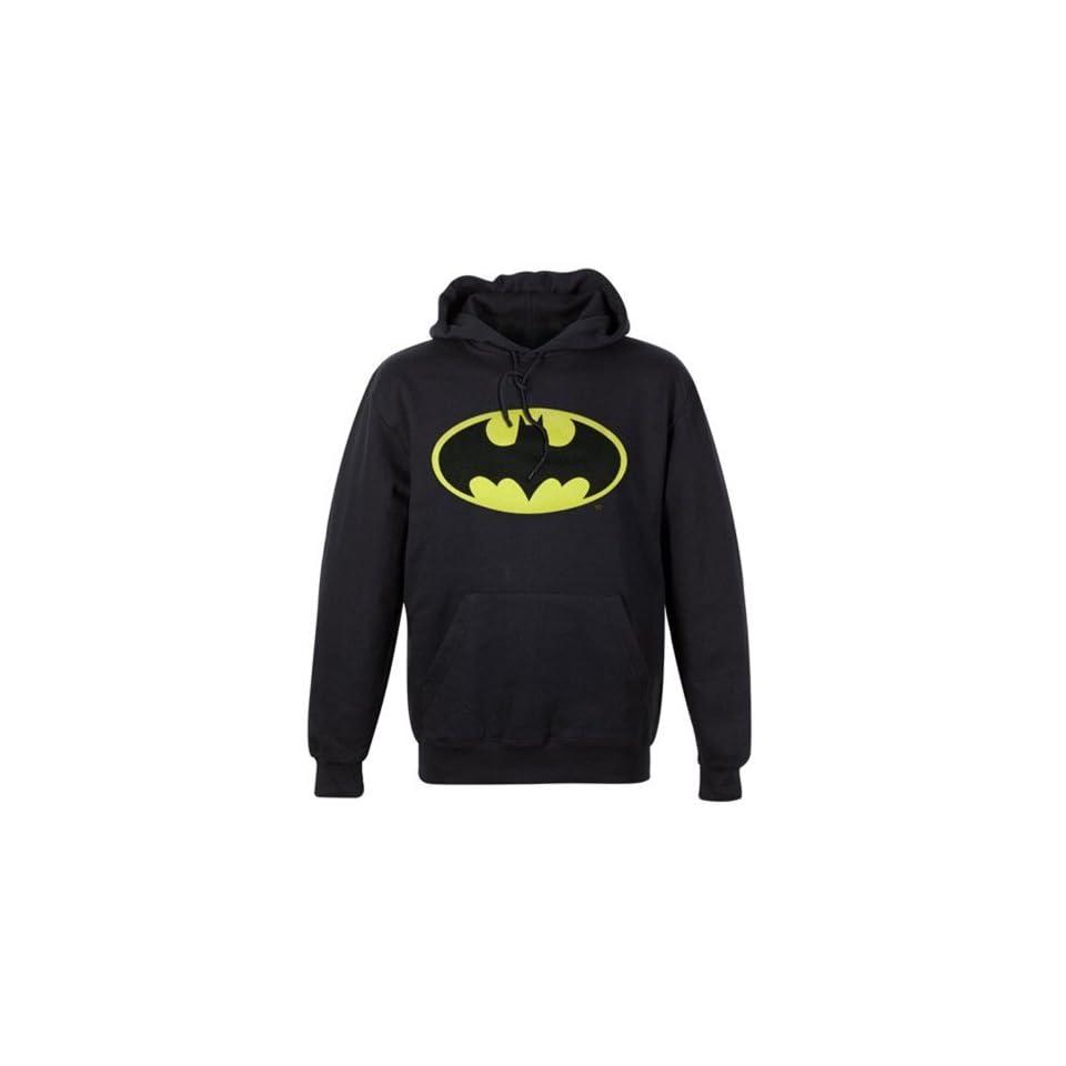 Batman Logo Men's Pullover Hooded Sweatshirt, XX Large Clothing