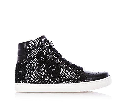 CULT - Sneaker nera stringata, in pelle e pizzo, Donna, ragazza, ragazze, Bambina-33