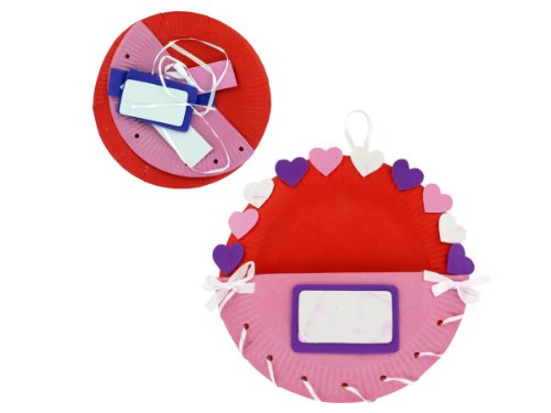 Paper Plate Valentine Holder Craft Kit - Case of 12