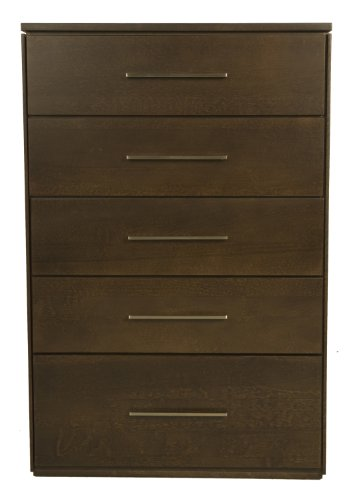 Offspring York 5 Drawer Chest, Cocoa