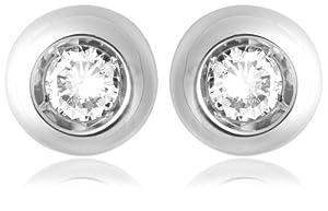 Miore - M0617W - Boucles d'Oreilles Femme - Or blanc 750/1000 (18 carats) 1.65 gr - Diamant 0.12 cts