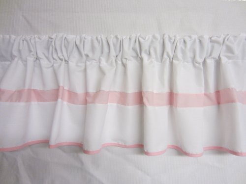 Baby Doll Modern Hotel Style Window Valance, Pink front-997068