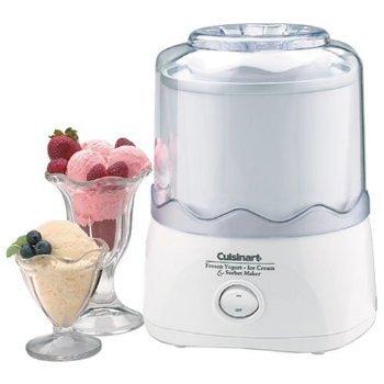 Cuisinart Frozen Yogurt Ice Cream & Sorbet Maker 1.5 Quart Bonus! 2 Freezer Bowls