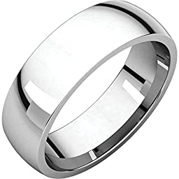 06.00 mm Light Comfort-Fit Wedding Band Ring in Platinum (Size 8.5 )