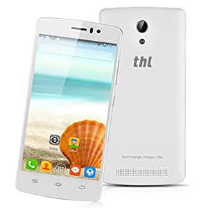 THL 4000 4.7'' IPS Android 4.4 Katkit OS Unlocked 3G Smartphone -- IPS QHD Touch Screen MTK6582M Quad Core 8G ROM+ 1G RAM Mobile Phone Dual SIM Dual Cameras GPS WIFI SIM-Free Cellphone (White)