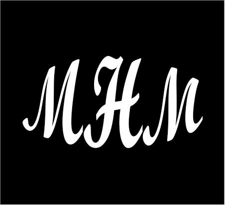 6-white-monogram-3-letters-mhm-initials-bold-font-script-style-vinyl-decal-for-cup-car-computer-any-