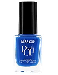 Miss Cop Vernis à Ongles Pop Nails Indigo 12 ml - Lot de 2