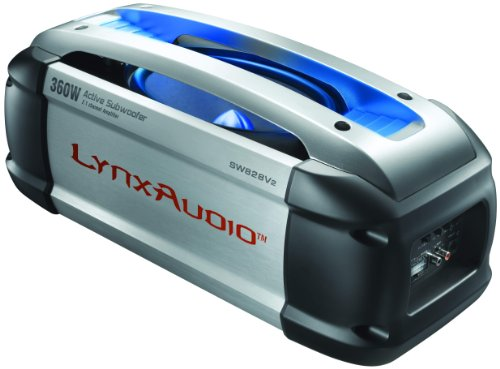 Lynx Audio Sw-828V2 7 X 10 Inches 200W Amplified Subwoofer And 160W 2-Channel High Frequency Class D Amplifier With Full Color Led Lights