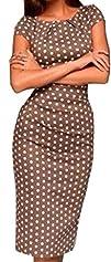 Baifern Women's Sleeveless Polka Dot…