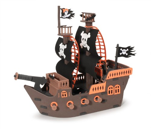 Darice 106-1643 Deluxe 3-D Foam Pirate-Ship Kit