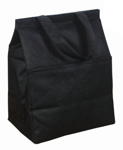 NON Woven Insulated Grocery Lunch Bag Cooler, Black by BAGS FOR LESSTM - 1