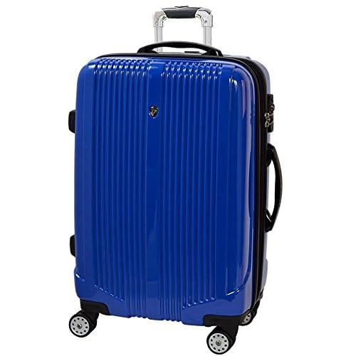 TSAロック搭載 スーツケース キャリーバック FK8000 ブルー M型 PC鏡面加工 ダブルキャスター装備