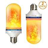 LED Flame Effect Light Bulbs, Calmsen E26 E27 Flickering Fire Light Bulbs with 4 Modes, 5W Flame Bulb for Christmas, Home Decor, Party, Restaurant, Outdoor - 2 Pack (Tamaño: 2 Packs)