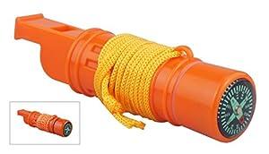SE CCH5-1 5-in-1 Survival Whistle, Orange