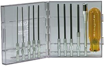 Xcelite 99PS40BPV Ballpoint Allen Hex Screwdriver Set, With Clear Plastic Case, 11-Piece