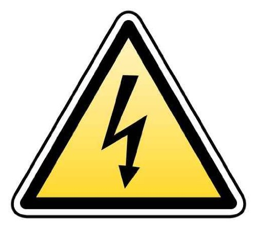 Shape Wall Decals Warning High Voltage/Electricity - 24 Inches X 21 Inches - Peel And Stick Removable Graphic