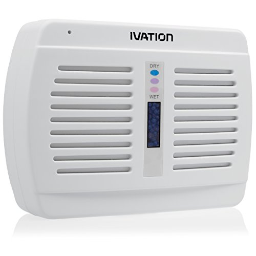 Ivation Renewable/Rechargeable Wireless Mini Dehumidifier - Suited for Closets, Boats, RVs, Lockers & Gun Safes - Uses Non-Toxic Silica Gel Crystals (Renewable Mini Dehumidifier compare prices)