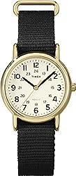 Timex Weekender Mid Size Slip Thru Watch - Black