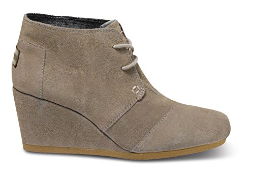 Women's TOMS 'Desert' Wedge High Bootie Taupe Size 11 M
