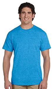 Gildan Men's Crewneck Short-Sleeve T-Shirt, HEATHER SAPPHIRE, Large. G200
