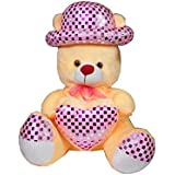 MYBUDDY SWEET SOFT TEDDY BEAR WITH CAP 50CM